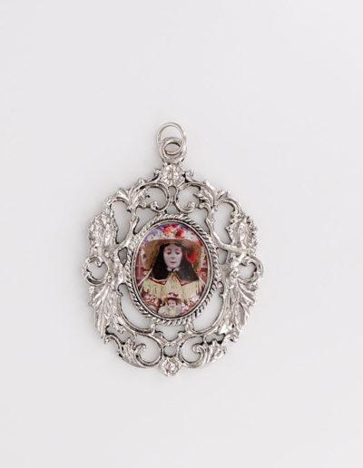 Medallón Dos ángeles (doble cara)