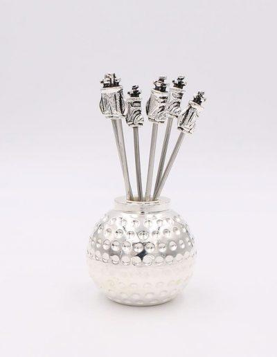 498P33 Bola Golf con 6 pinchos saco golf