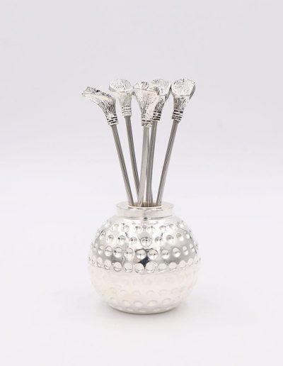 498P859 Bola Golf con 6 pinchos palo golf