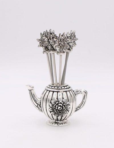 897P324 Tetera con 6 pinchos flor Edelweiss